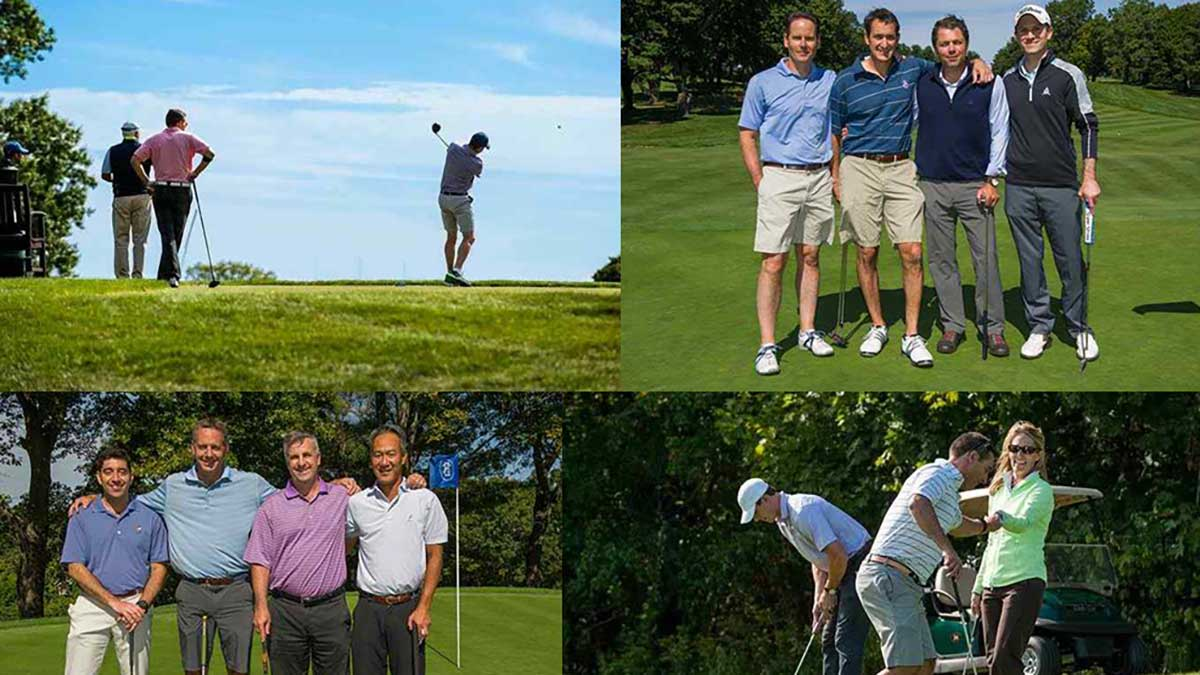Bain Capital employees and guests celebrate donations and raise new funds at the 2015 BCCC Annual Golf Classic