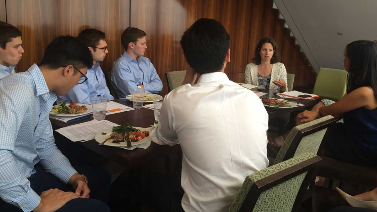 Bain Capital employees join New Profit Managing Partner Kim Syman for roundtable discussion
